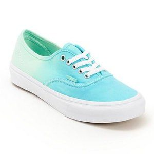 Vans size 6 Mint Teal Ombre Fade Sneakers
